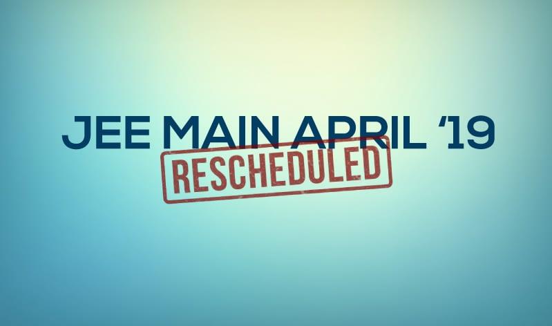jee main 2019 april dates