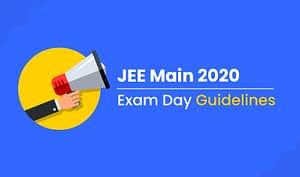 jee main 2020 exam guidelines