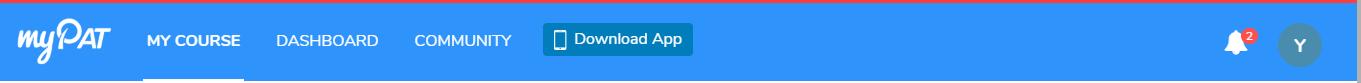 myPAT navigation bar